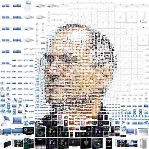 Steve Jobs Collage by Charis Tevis for Fortune Magazine