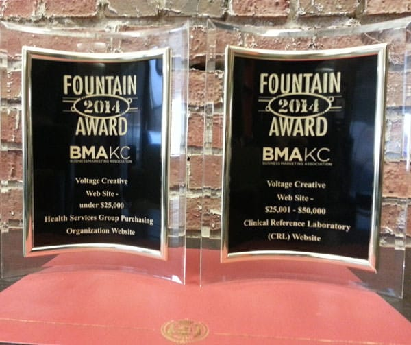Voltage Creative 2014 BMA Fountain Awards