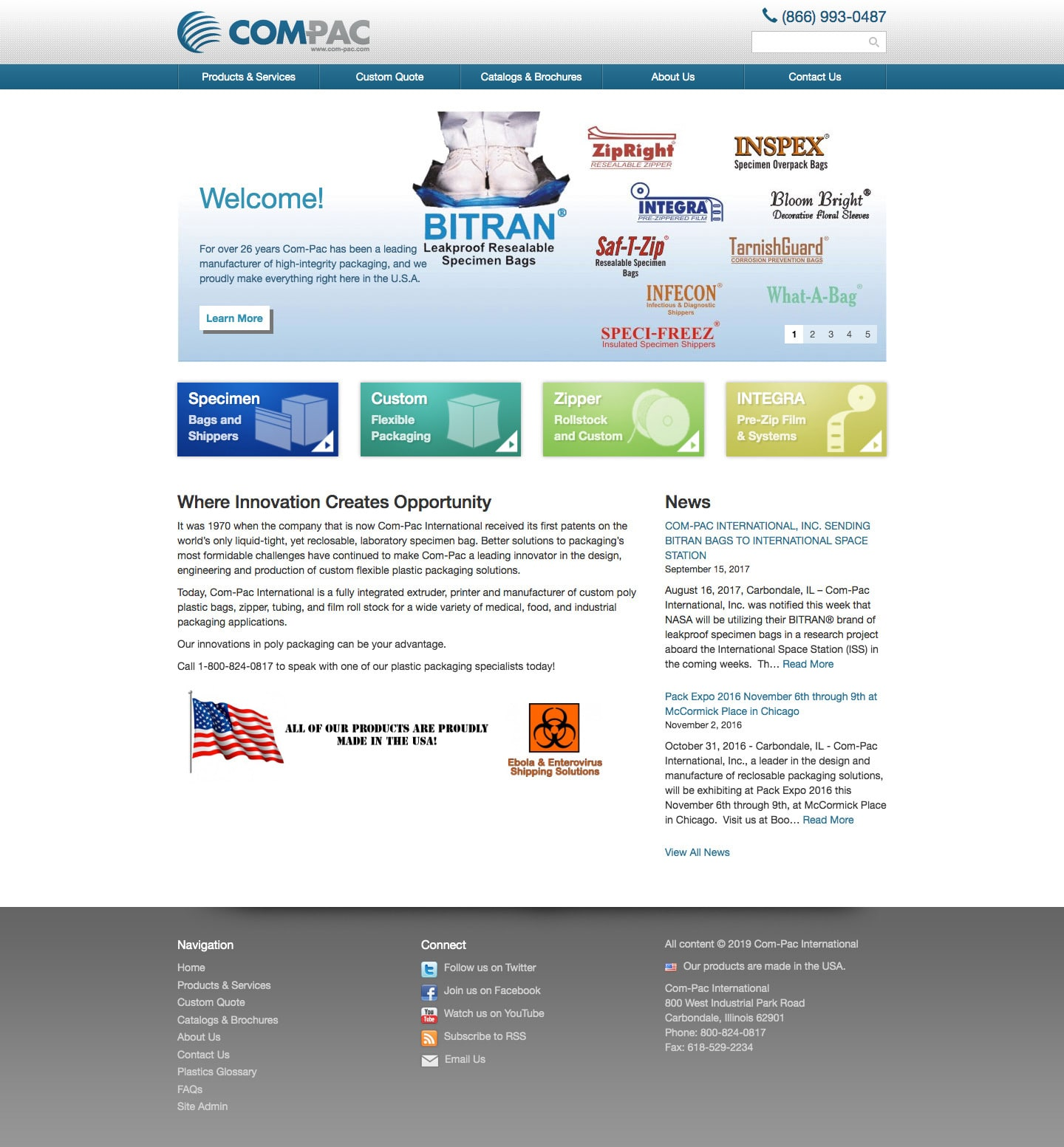 Com-Pac website screenshot