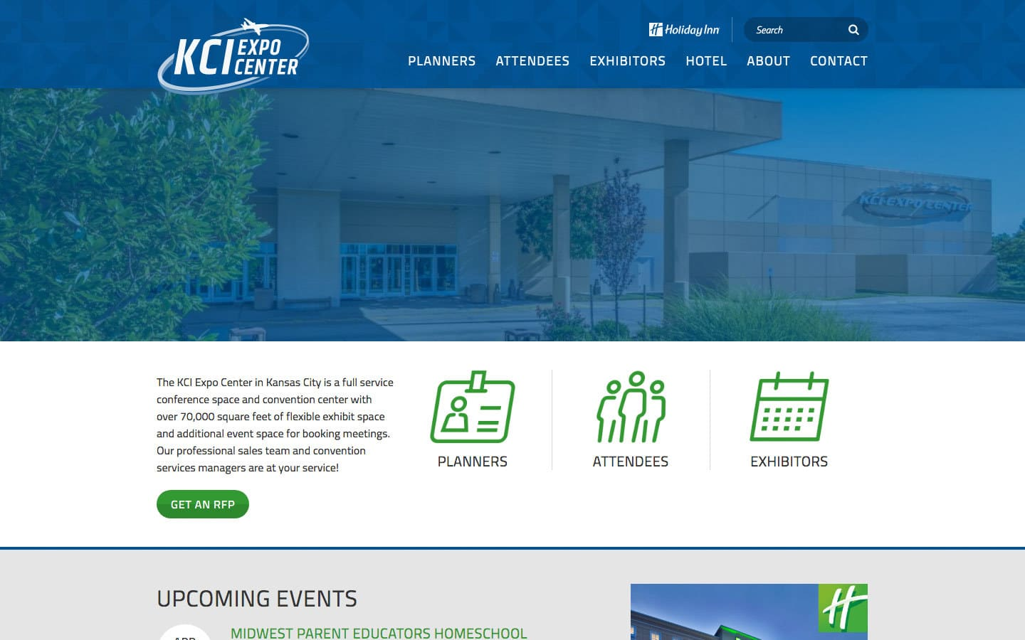 KCI Expo website screenshot