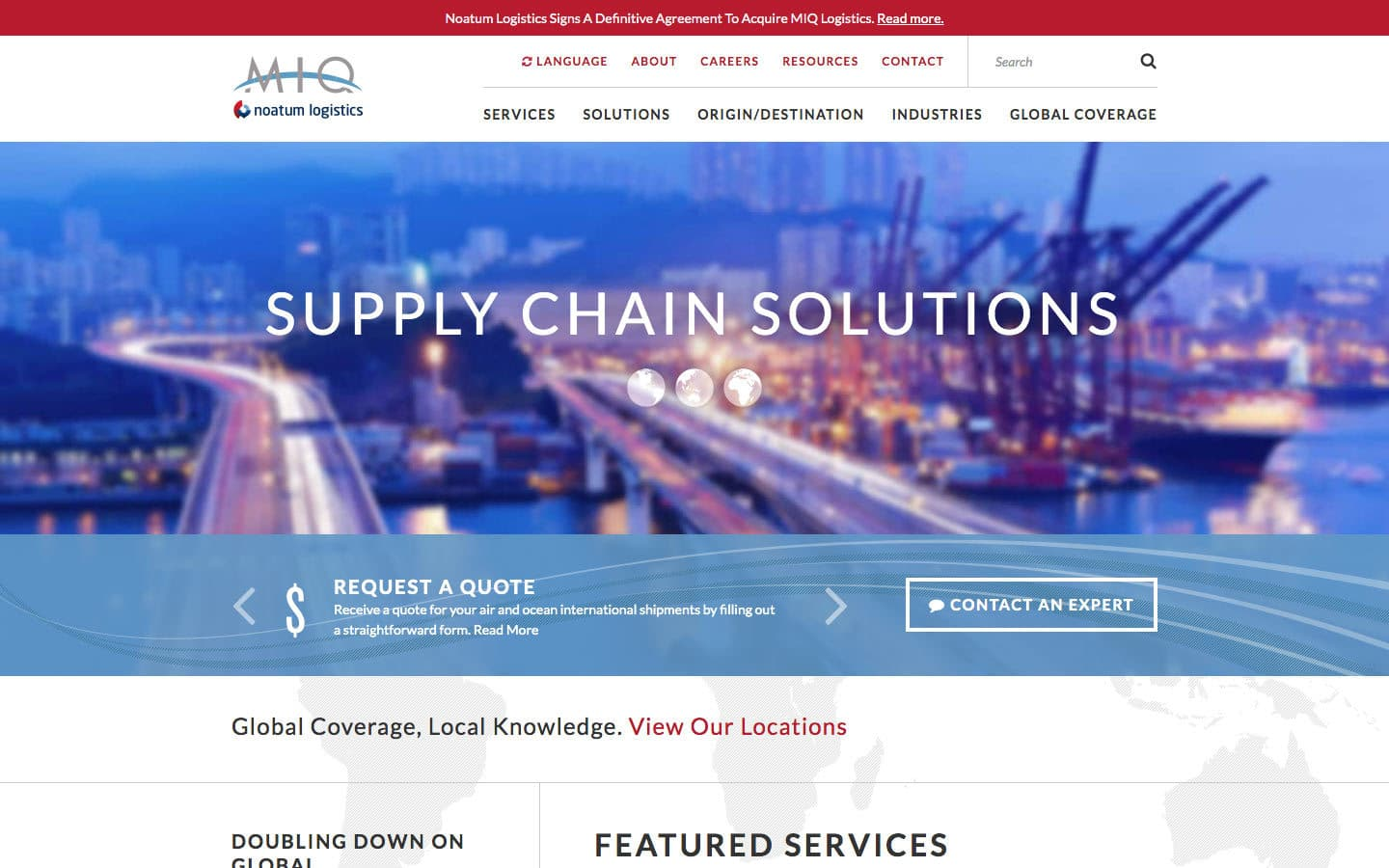 MIQ website screenshot