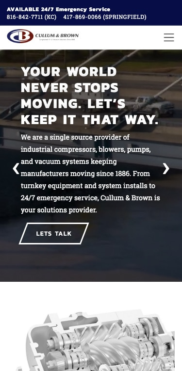 Cullum & Brown website screenshot