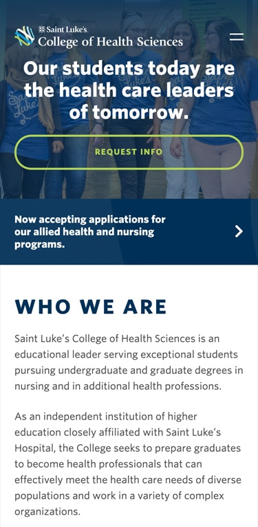 Saint Luke's website