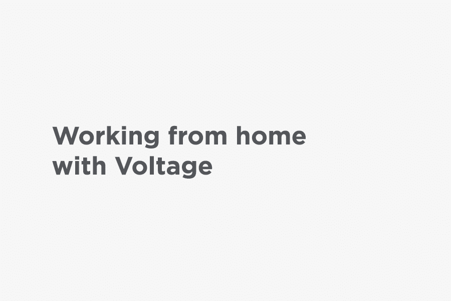 Working from home with Voltage graphic