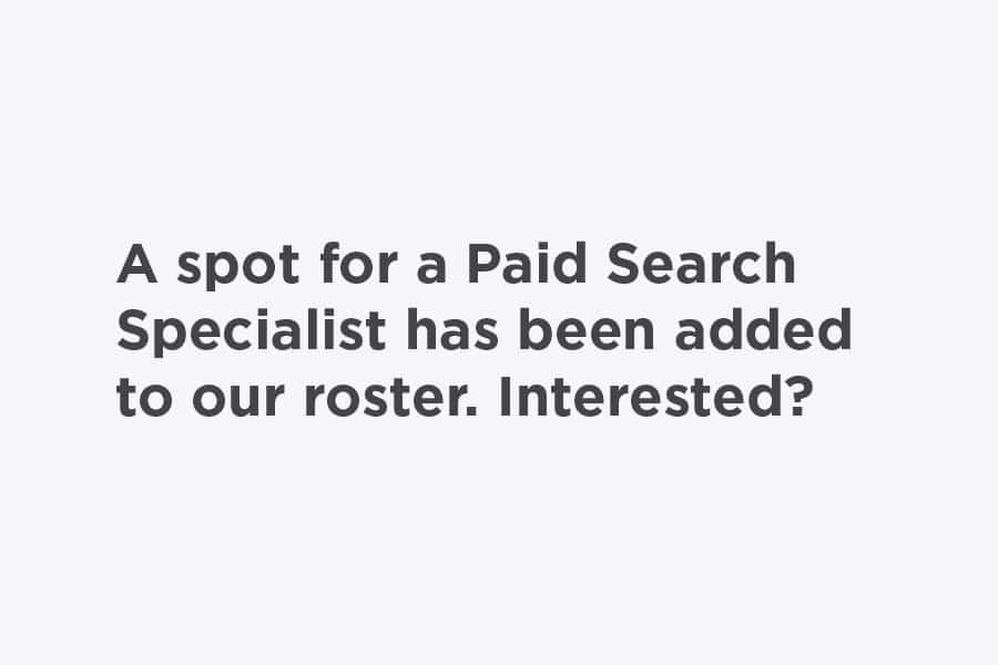 Paid Search Specialist job posting