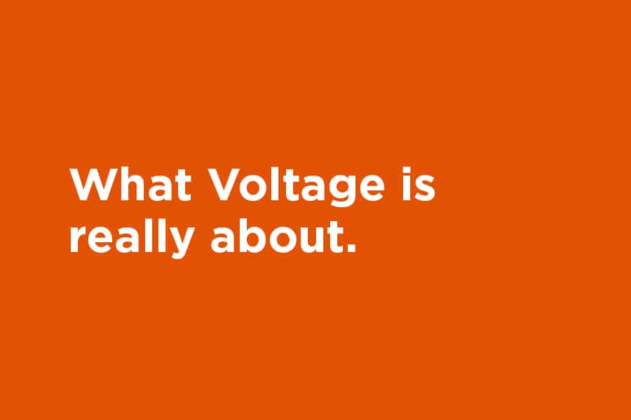 what voltage is really about