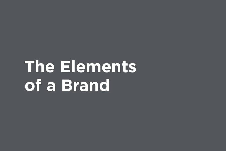 The elements of a brand graphic